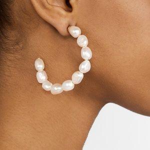 Jewelry - BaubleBar Pearl Dafina Hoop Earrings